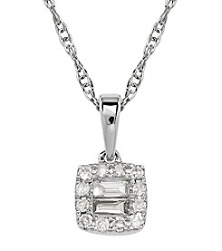 0.12 ct. t.w. Diamond Pendant Necklace in 10K White Gold