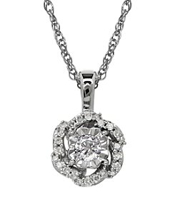 0.16 ct. t.w. Diamond Pendant Necklace in 10K White Gold