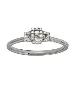 0.12 ct. t.w. Diamond Ring in 10K White Gold