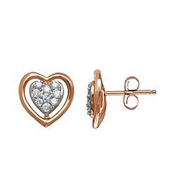 0.25 ct. t.w. Diamond Earrings in 10K Rose Gold