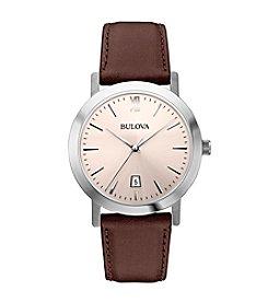 Bulova® Men's Brown Strap Watch
