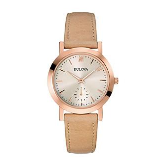 Bulova® Women's Nude Strap Watch