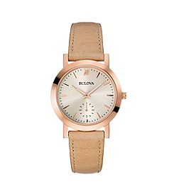 Bulova® Women's Nude Strap Watch