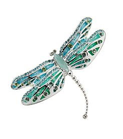 Napier® Silvertone Dragonfly Pin in Gift Box