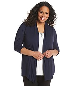AGB® Plus Size Embellished Layered Look Top