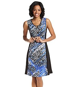 Notations® Petites' Multi Print Sleeveless Dress