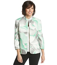 Alfred Dunner® Petites' High Tea Abstract Print Jacket