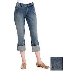 NYDJ® Dayla Wide Cuffed Cropped Jeans
