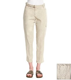 DKNY JEANS Belted Poplin Cargo Pant