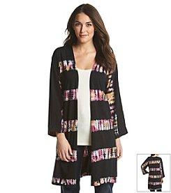 Ruff Hewn Tie Dye Jersey Kimono Cardigan
