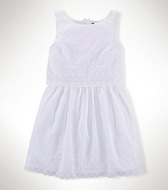Ralph Lauren Childrenswear Girls' 7-16 Eyelet Dress