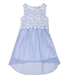 Rare Editions® Girls' 7-16 Hi Low Dress With Lace Bodice