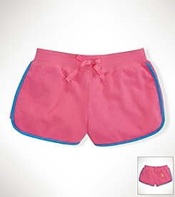 Ralph Lauren Childrenswear Girls' 2T-16 Fleece Shorts