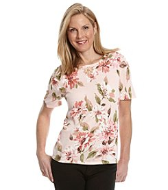 Alfred Dunner® Romancing The Stone Embellished Floral Print Sweater
