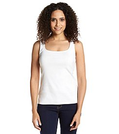 Ruby Rd.® Solid Square Neck Rib Tank