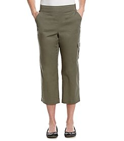 Briggs New York® Solid Pull On Cargo Capri