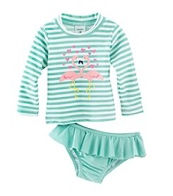 Carter's® Baby Girls' 2-Piece Flamingo Swim Set