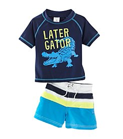 Carter's® Baby Boys' 2-Piece Gator Swim Set