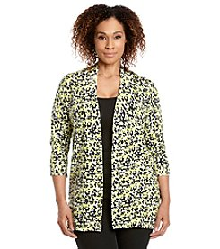 Laura Ashley® Plus Size Pixel Print Sweater Cardigan