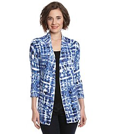 Laura Ashley® Glacier Mosaic Printed Cardigan Sweater