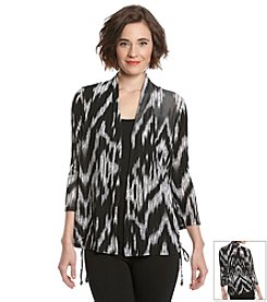 Laura Ashley® Trip Ready Ikat Cardigan
