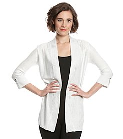 Laura Ashley® Raindrop Foil Cardigan