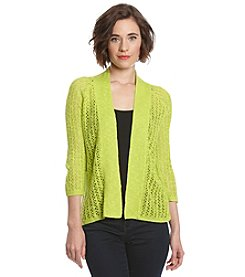 Laura Ashley® Open Stitch Cardigan Sweater