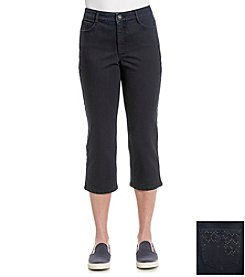 Laura Ashley® Black Rinse Denim Cropped Jeans