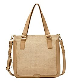 Fossil® Preston Straw Shopper