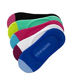 Steve Madden 5 Pack Color Block Footies