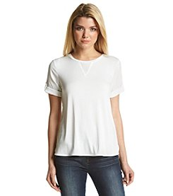 Calvin Klein Short Sleeve Mixed Top