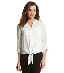 Chaus Tie Front Blouse
