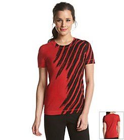 Anne Klein® Printed Short Sleeve Sweater