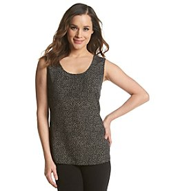 Anne Klein® Mini Dot Sleeveless Shell