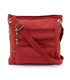 GAL Nylon Three Zip Crossbody