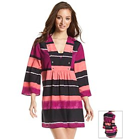 Ivanka Trump® Engineered Stripe Coverup