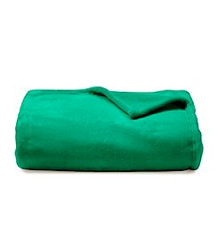 LivingQuarters Green Micro Cozy Throw