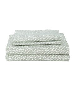 CASA by Victor Alfaro Greenleaf Print Spa Sheet Set