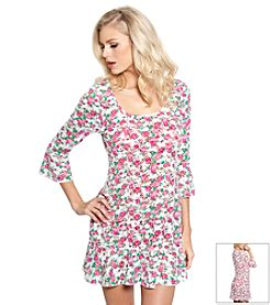 Betsey Johnson® Garden Rose Crochet Tunic Dress