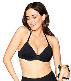 Betsey Johnson® Solid Molded Underwire Halter Top