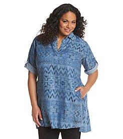 Chelsea & Theodore® Plus Size Woven Print Tunic