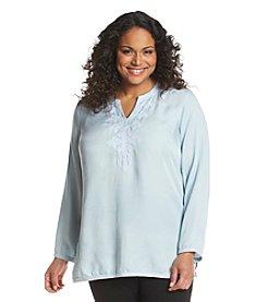 Chelsea & Theodore® Plus Size Splitneck Tunic