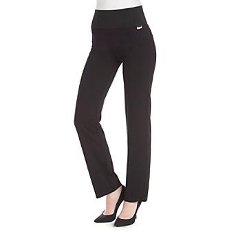 Calvin Klein Wide Waist Straight Leg Pants plus size,  plus size fashion plus size appare