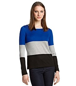 Vince Camuto® Wide Stripe Sweater
