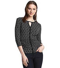 Vince Camuto® Oval Dashes Top