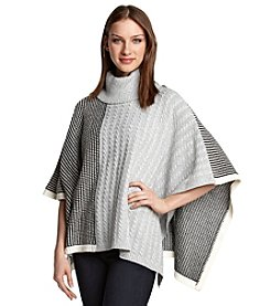 Vince Camuto® Cable And Waffle Stitch Poncho
