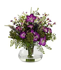 Nearly Natural® Mixed Morning Glory with Vase