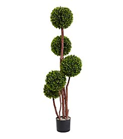 Nearly Natural® 4'  Indoor Outdoor Boxwood Topiary