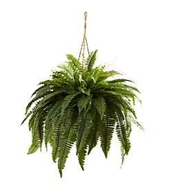 Nearly Natural® Double Giant Boston Fern Hanging Basket