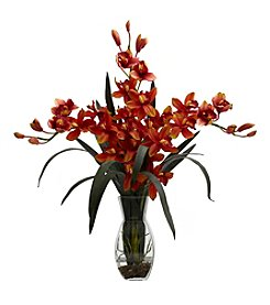 Nearly Natural® Triple Cymbidium with Vase Arrangement